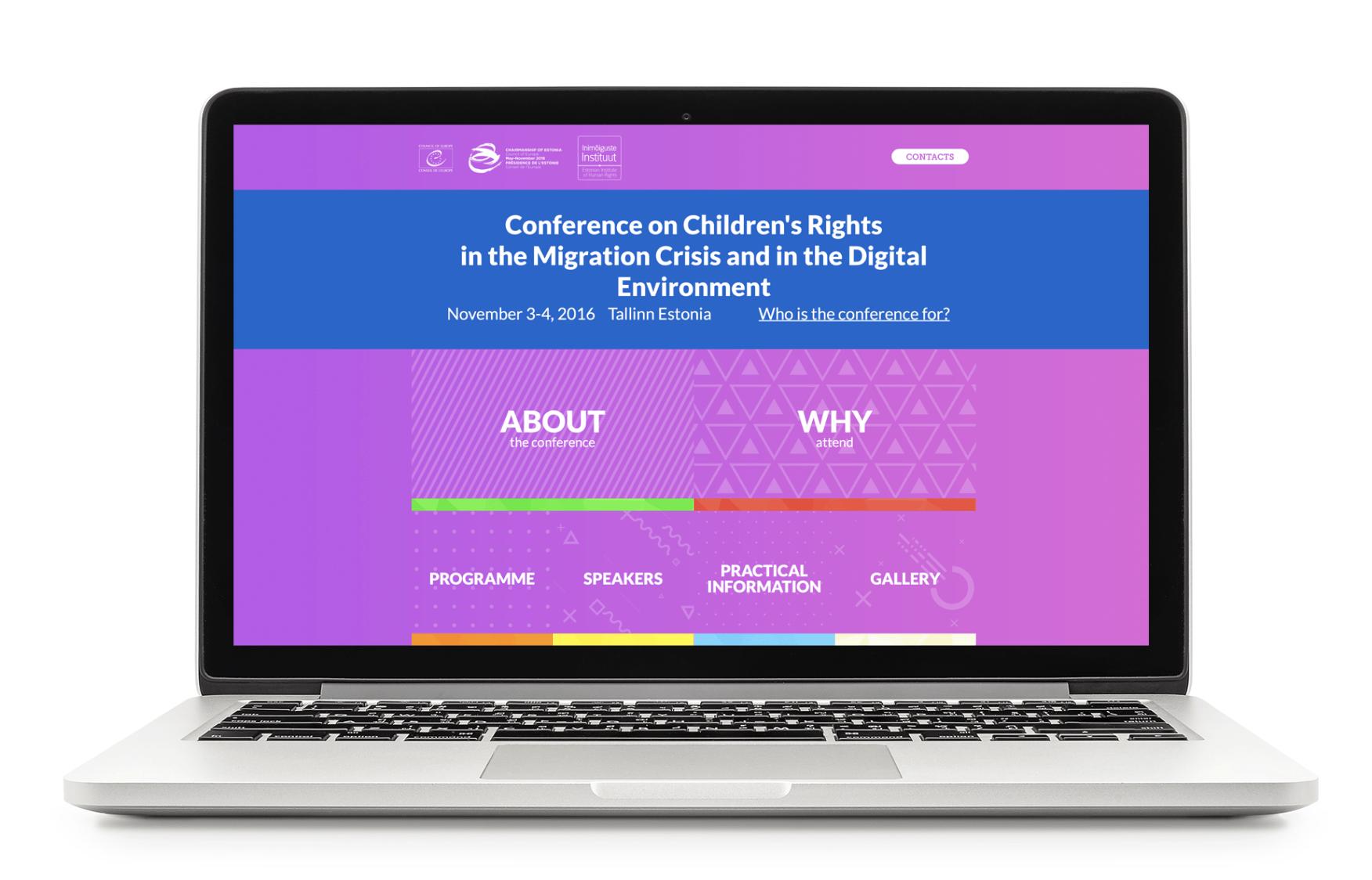Noortekonverentsile valmistatud veebileht