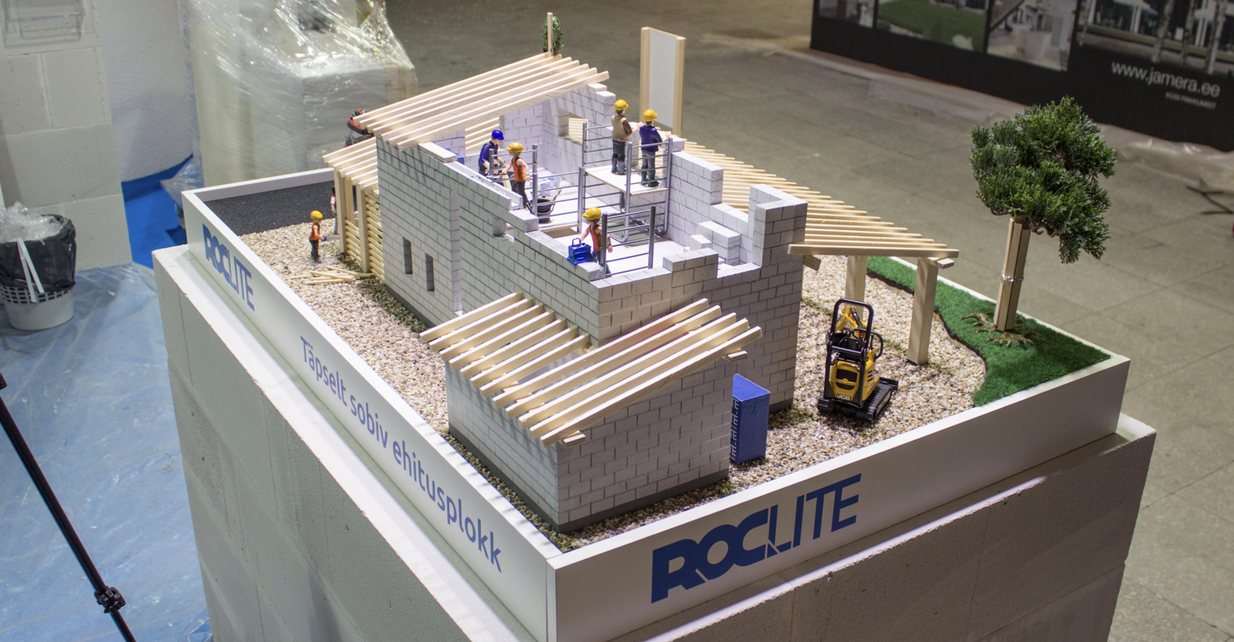 Makett: Roclite Ehitusmessil