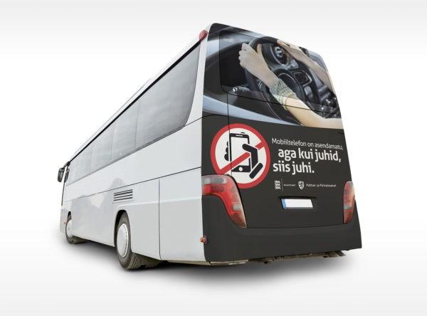 Reklaam bussidel: kui juhid, siis juhi