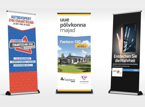 Roll-up reklaamide disain ja tootmine