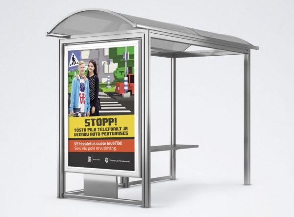 Välimeediareklaam Maanteeameti sotsiaalkampaania