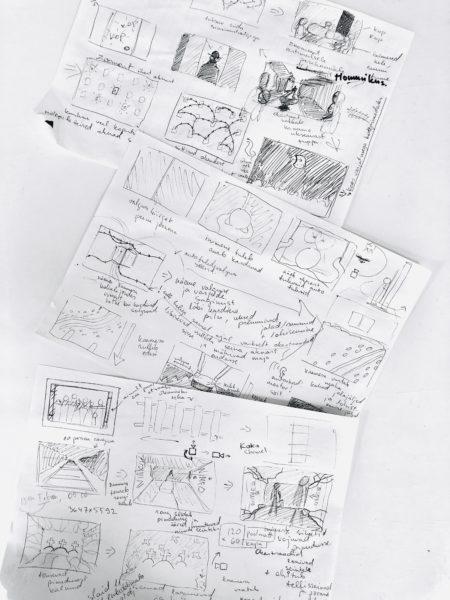 Fassaadiprojektsiooni storyboardi kavand