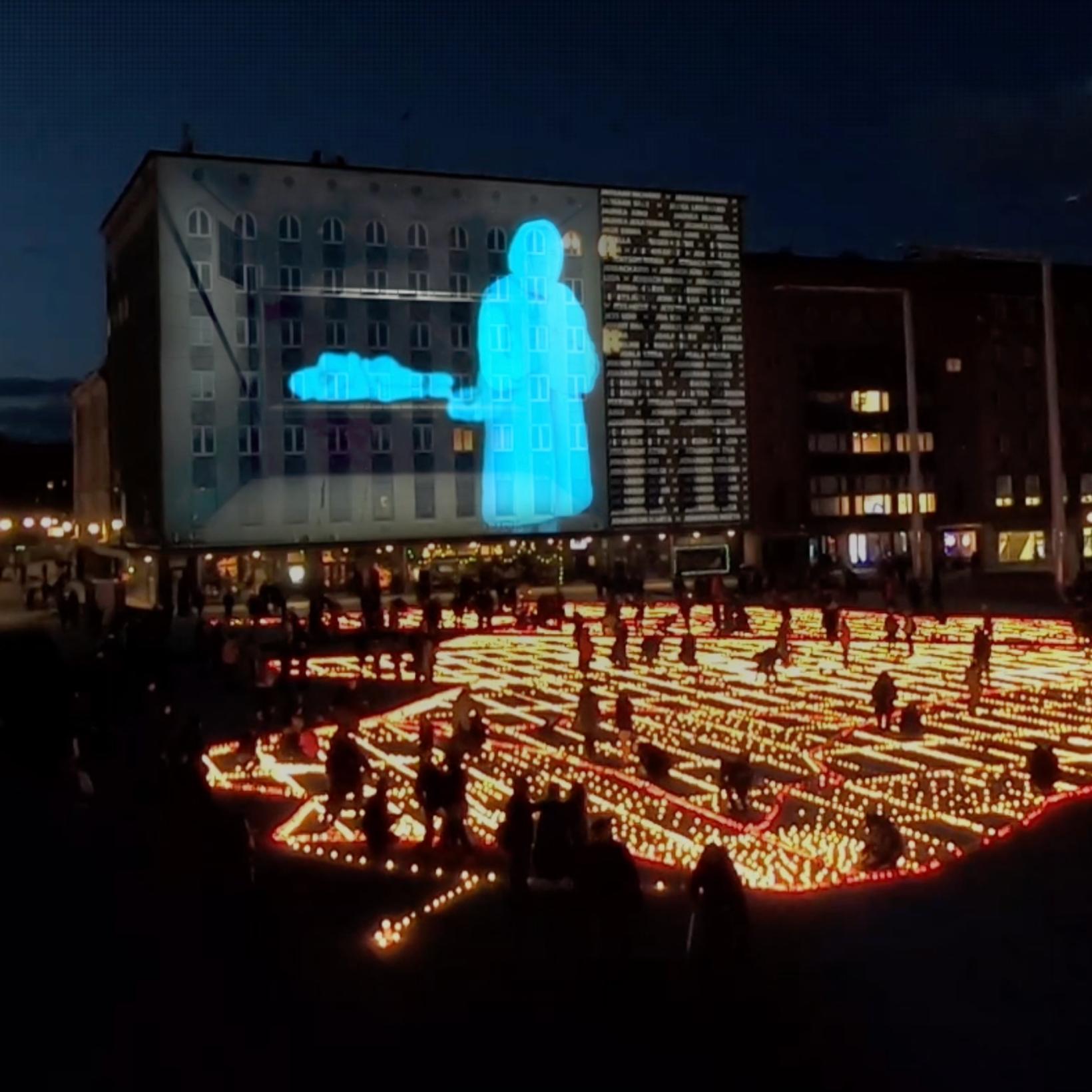 Video installation: March deportation 70
