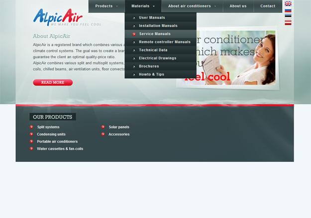 Alpic Air konditsioneerid õhksoojuspumbad veebileht