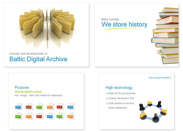 Baltic Digital Archive PowerPoint presentatsioon esitlus