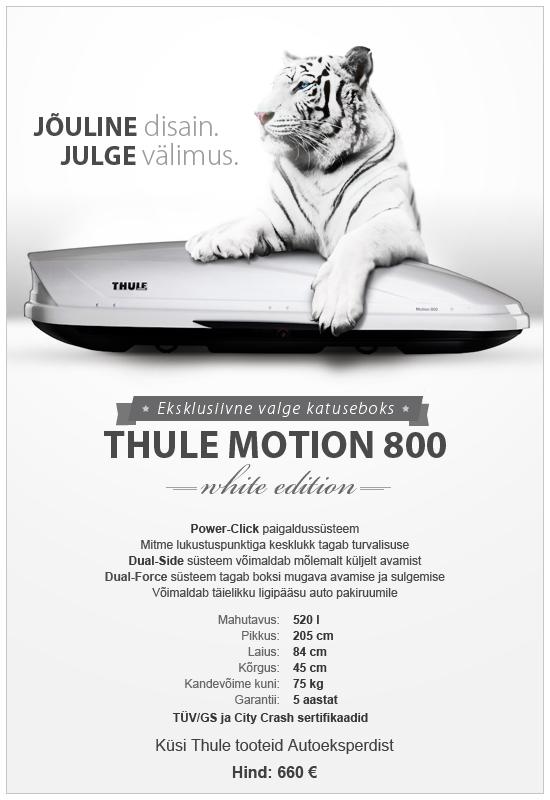 Thule Motion 800 valge katuseboks