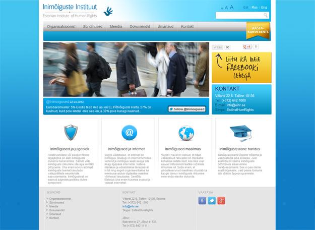 EIHR Eesti Inimõiguste Instituut veebidisain