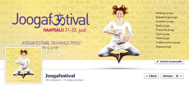 Joogafestival Facebook ajajoone disain