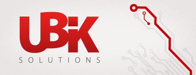 Ubik Solutions logo identiteet disain
